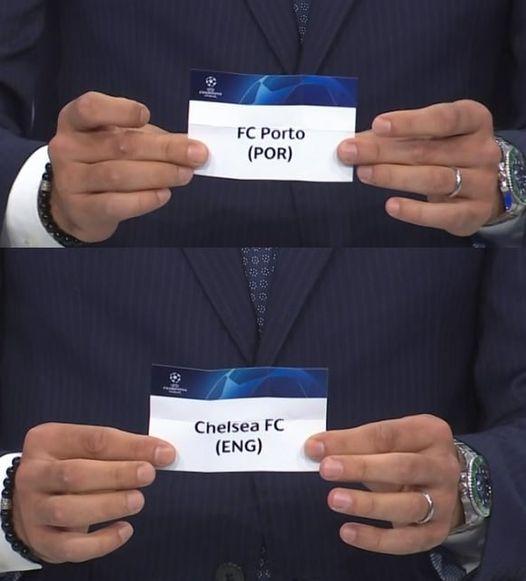 FC Porto defronta Chelsea nos quartos de final da Liga dos Campeões