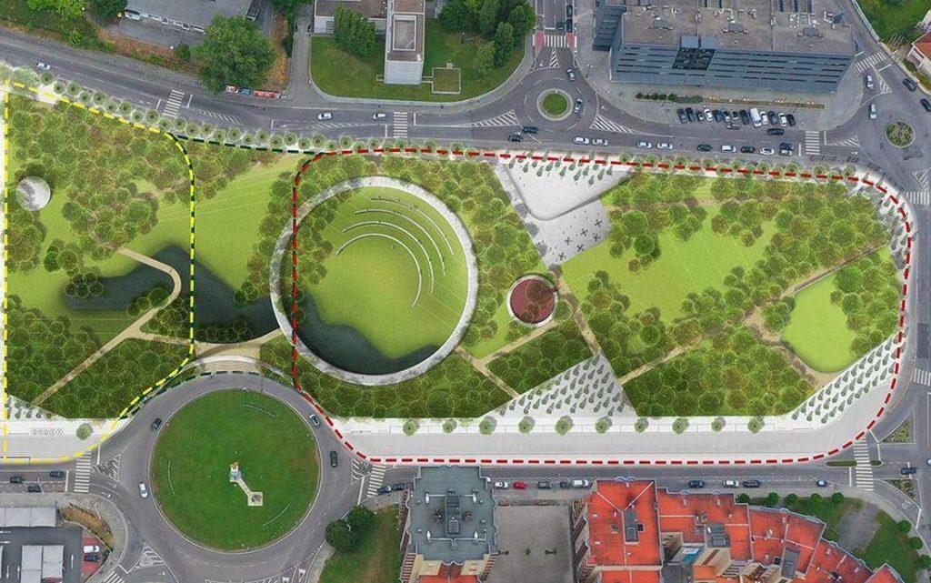 Começaram as obras no novo parque urbano que ligará o centro de Gondomar à ribeira da Archeira