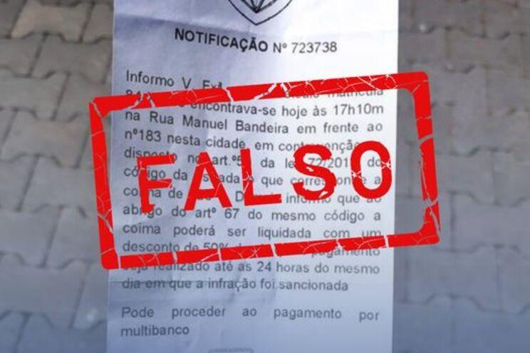 PSP emite alerta para falsas multas de estacionamento no Porto