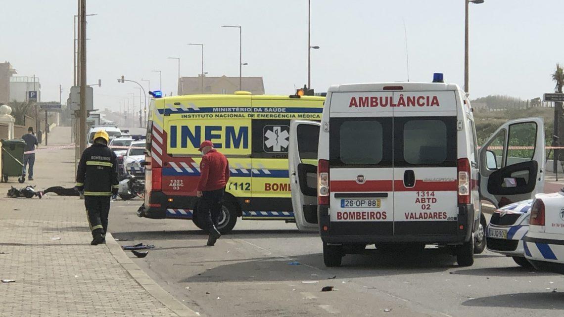 Acidente entre motociclista e ciclista causa um morto em Vila Nova de Gaia