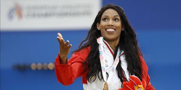 Patrícia Mamona conquista a medalha de ouro no triplo salto dos europeus