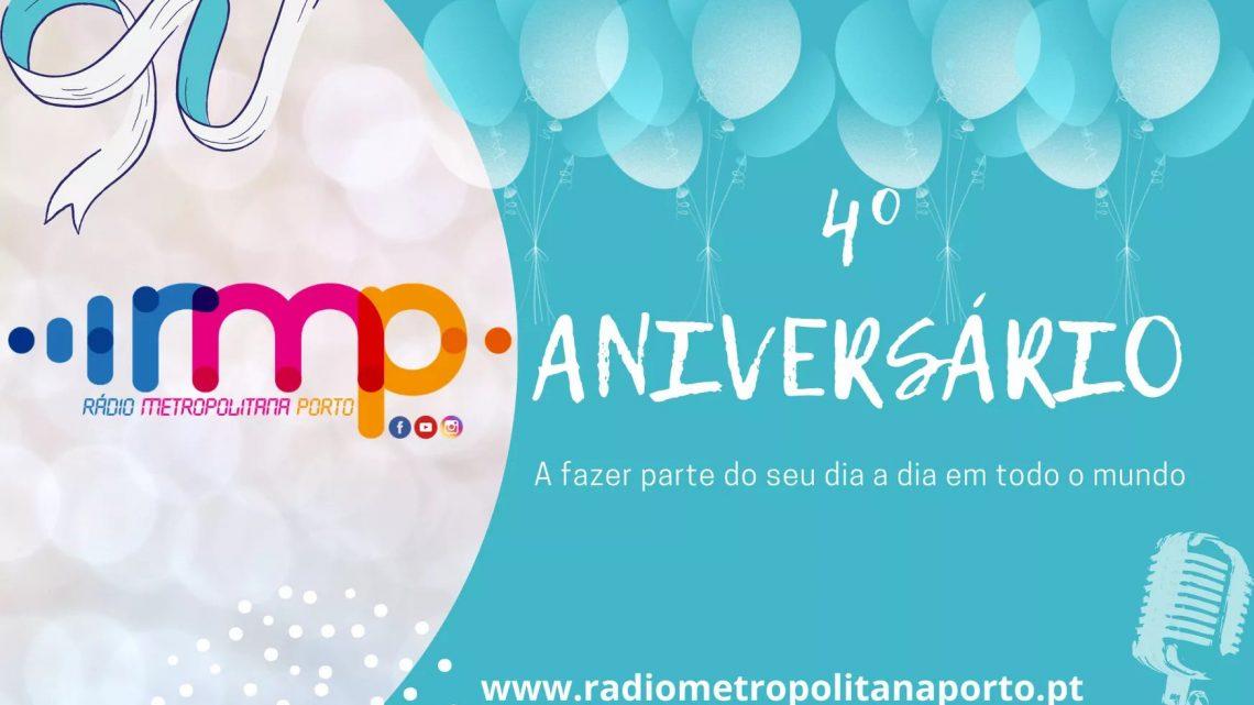 Rádio Metropolitana Porto festeja hoje o seu 4º Aniversário