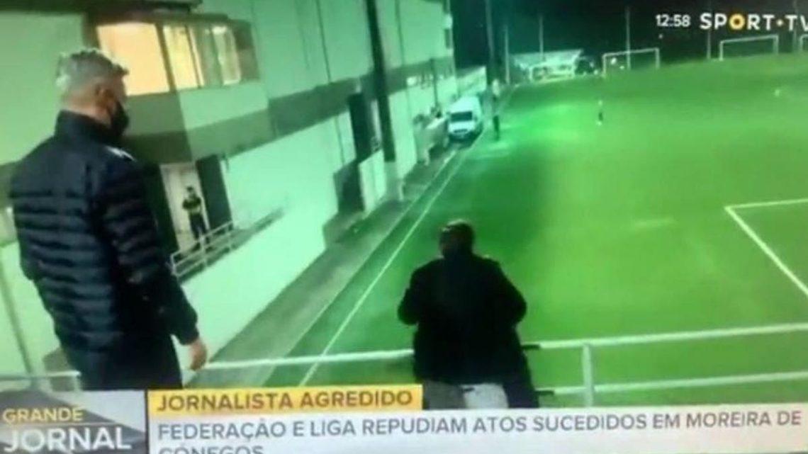 Empresário de Futebol agride repórter de imagem da TVI